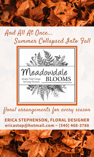 Highland County, Virginia, Meadowdale Blooms, florist, floral, flowers, gifts, funeral, wedding, special occasion, Erica Stephenson, local, business